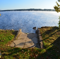 Installed Boat Launch, Concrete Steps, Retaining Wall, and Resurfaced Driveway at Thompson Lake Otisfield, Maine