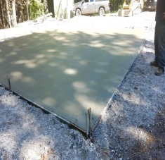 Install Gravel and Concrete Slab for Garage Located in Norway Maine