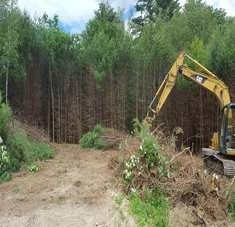 Excavation at New House Lot in Bridgton, Maine