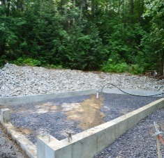 Cotton Lane Oxford Maine Garage Pad and Septic Tank System Expansion