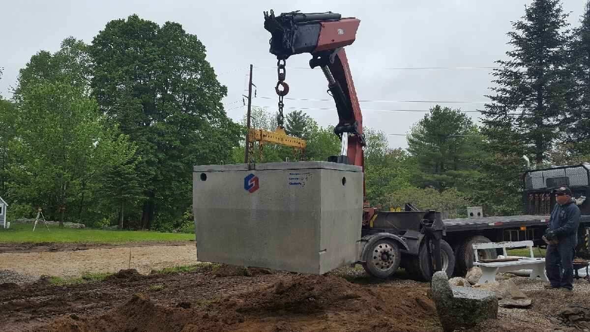 Septic Tank Installation in Bridgton, Maine by Bedard Excavation of South Paris, Maine