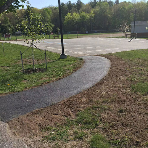 Installed Walking Trail Gray Maine by Bedard Excavation